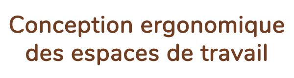 « Conception ergonomique des espaces de travail  »